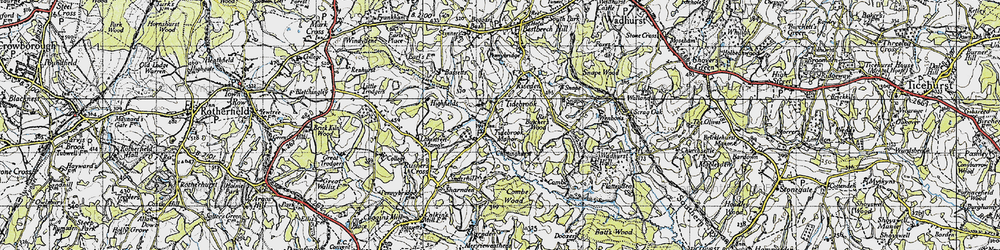 Old map of Tidebrook Manor in 1940