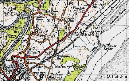 Old map of Tidenham in 1946