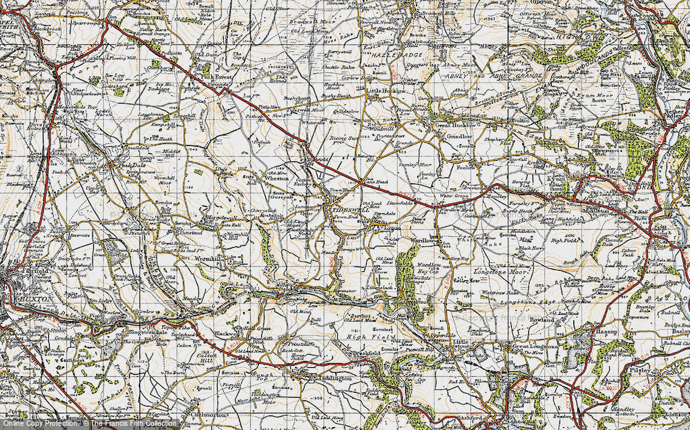 Old Map of Tideswell, 1947 in 1947