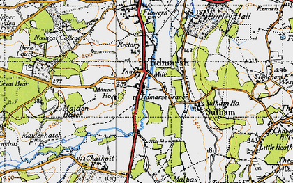 Old map of Tidmarsh in 1947