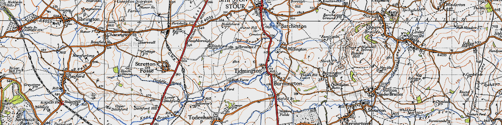 Old map of Tidmington in 1946