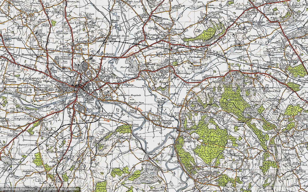 Old Map of Tidnor, 1947 in 1947