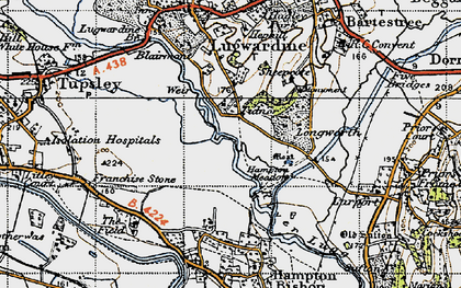 Old map of Tidnor in 1947