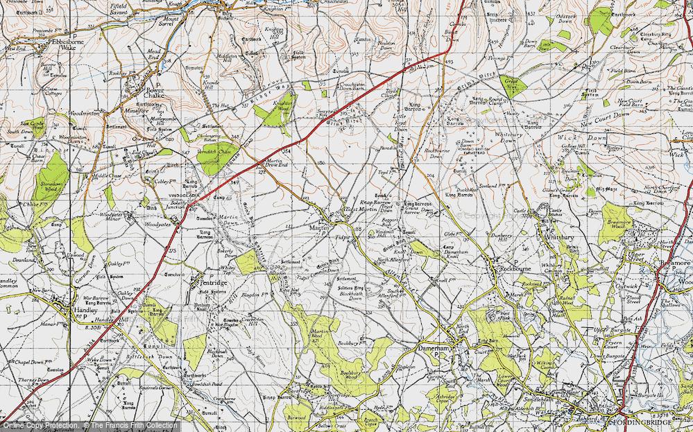 Old Map of Tidpit, 1940 in 1940