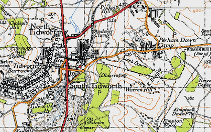 Old map of Ashdown Copse in 1940