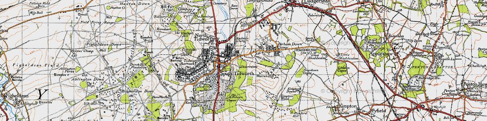 Old map of Tidworth in 1940