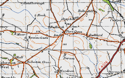 Old map of Tierson in 1946