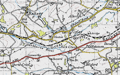 Old map of Allerton in 1946