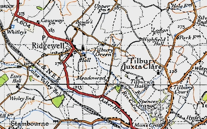 Old map of Tilbury Green in 1946