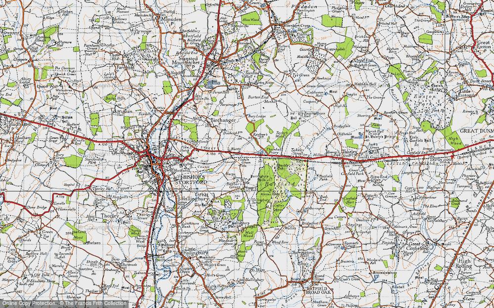Old Map of Tilekiln Green, 1946 in 1946