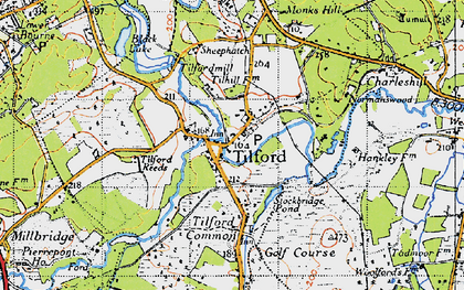 Old map of Tilhill Ho in 1940