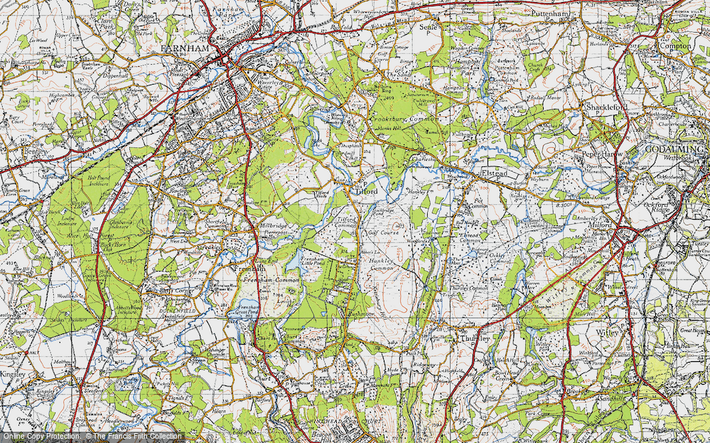 Old Map of Tilford Common, 1940 in 1940