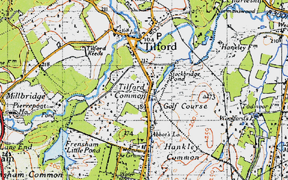 Old map of Yagden Hill in 1940