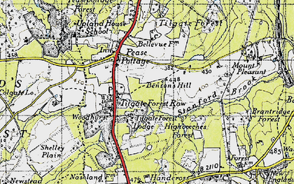 Old map of Tilgate Forest Row in 1940