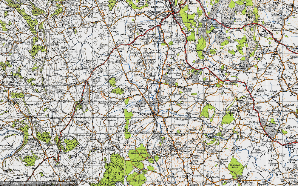Old Map of Tillers' Green, 1947 in 1947