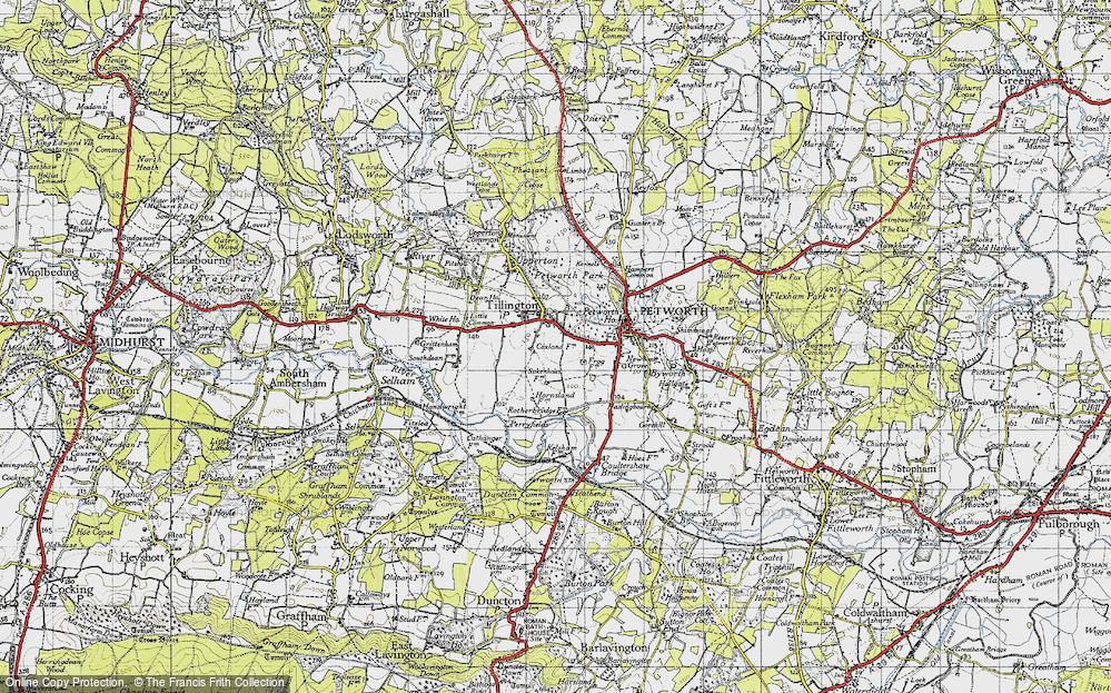 Old Map of Tillington, 1940 in 1940