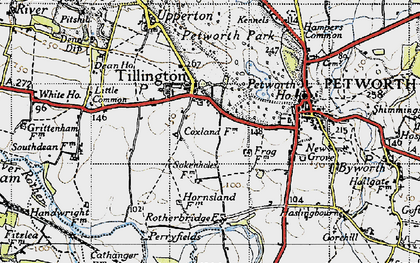 Old map of Tillington in 1940