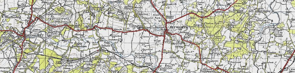 Old map of Tillington Ho in 1940