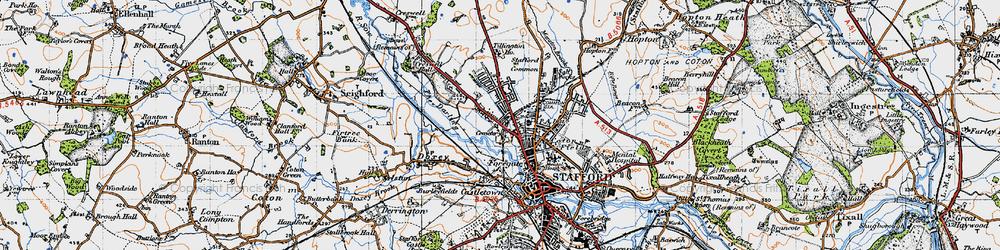 Old map of Tillington in 1946