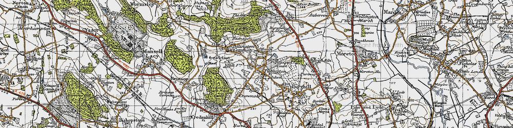 Old map of Tillington in 1947
