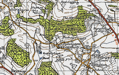 Old map of Badnage in 1947