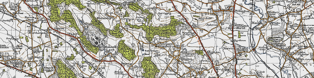Old map of Tillington Common in 1947
