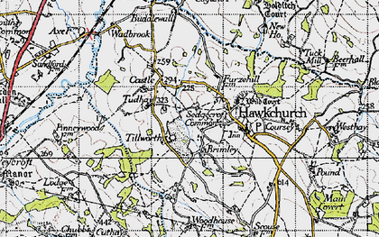 Old map of Tillworth in 1945