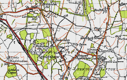 Old map of Tilly Down in 1940