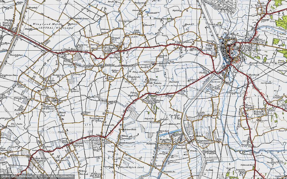 Old Map of Tilney All Saints, 1946 in 1946
