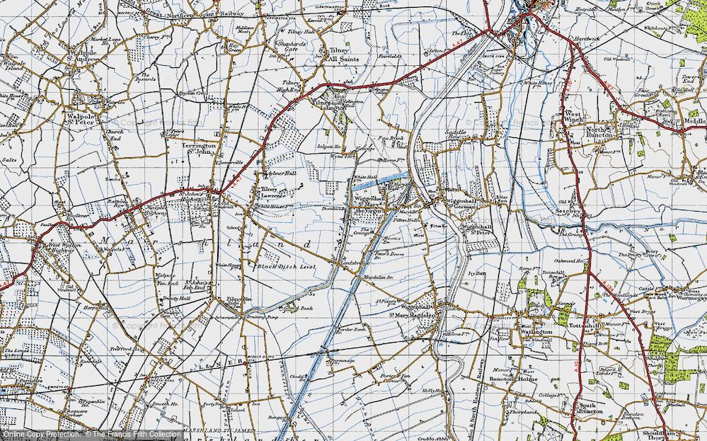 Old Map of Tilney cum Islington, 1946 in 1946
