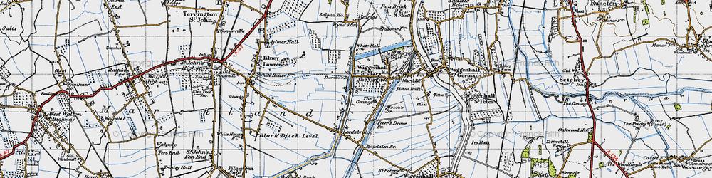 Old map of Tilney cum Islington in 1946