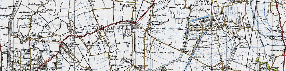 Old map of Tilney St Lawrence in 1946