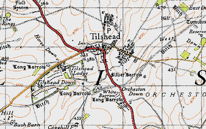 Old map of White Barrow (Long Barrow) in 1940