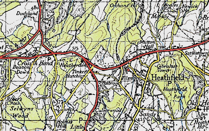 Old map of Tinkers Hatch in 1940