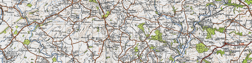 Old map of Tilsop in 1947