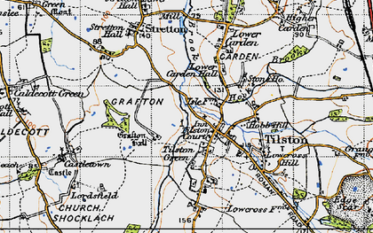 Old map of Tilston in 1947
