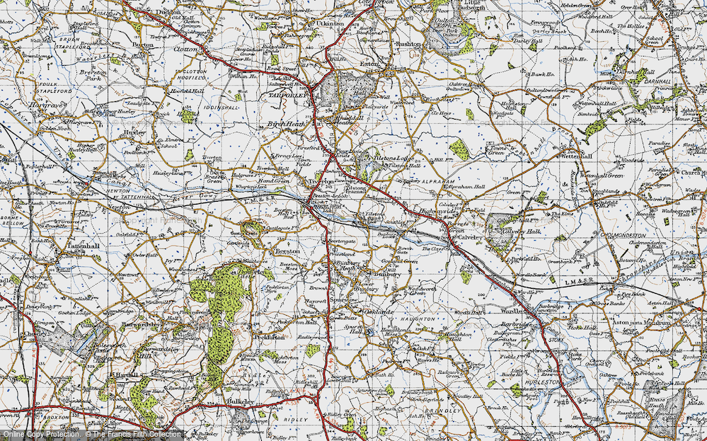 Old Map of Tilstone Bank, 1947 in 1947