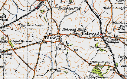Old map of Tilton on the Hill in 1946
