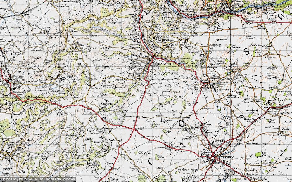 Old Map of Tiltups End, 1946 in 1946