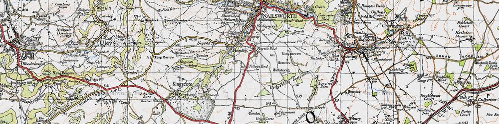 Old map of Tiltups End in 1946