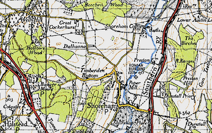 Old map of Timberden Bottom in 1946