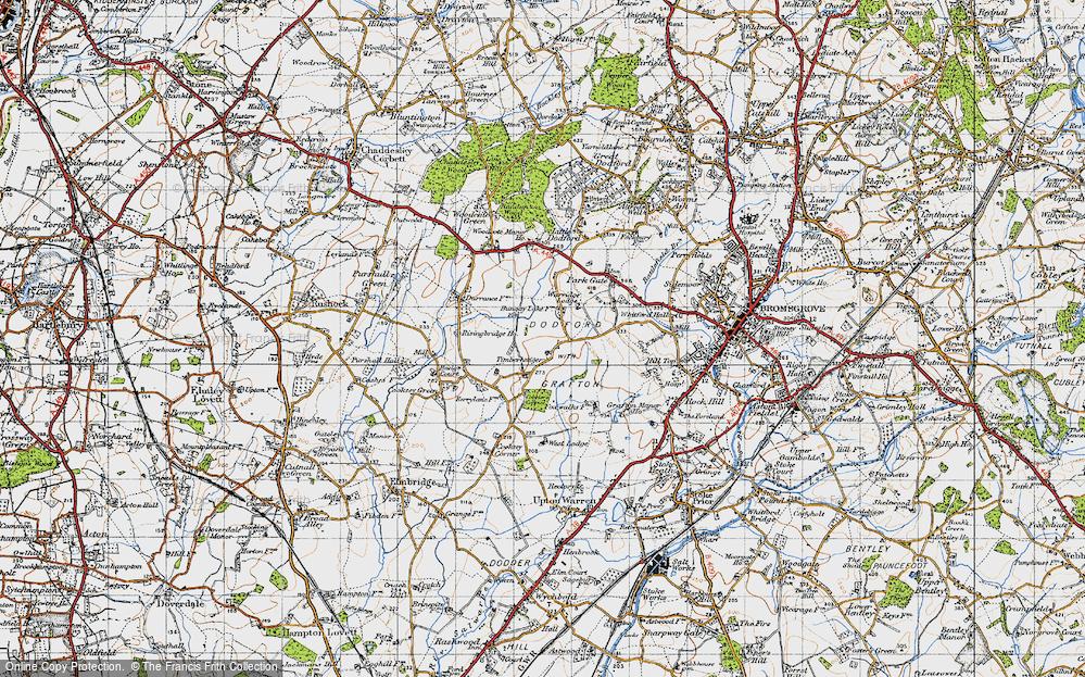 Old Map of Timberhonger, 1947 in 1947