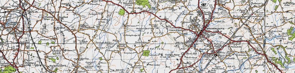 Old map of Timberhonger in 1947