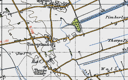 Old map of Timberland in 1946