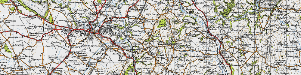 Old map of Timbersbrook in 1947