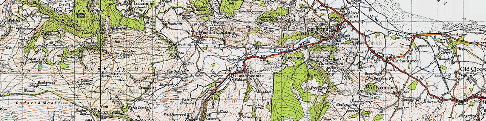 Old map of Timberscombe in 1946
