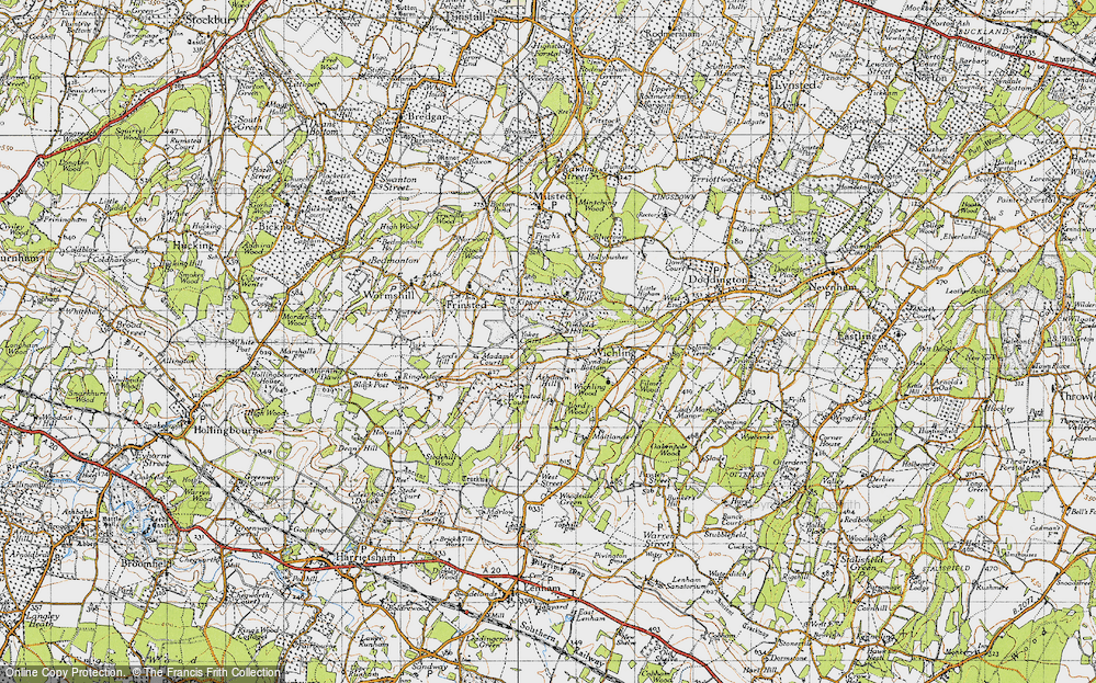 Old Map of Historic Map covering Wrinsted Court in 1946