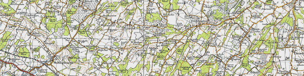Old map of Wrinsted Court in 1946