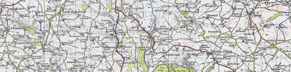 Old map of Timbrelham in 1946