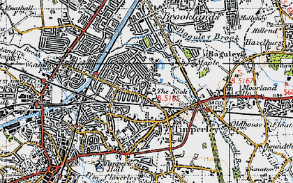 Old map of Timperley in 1947